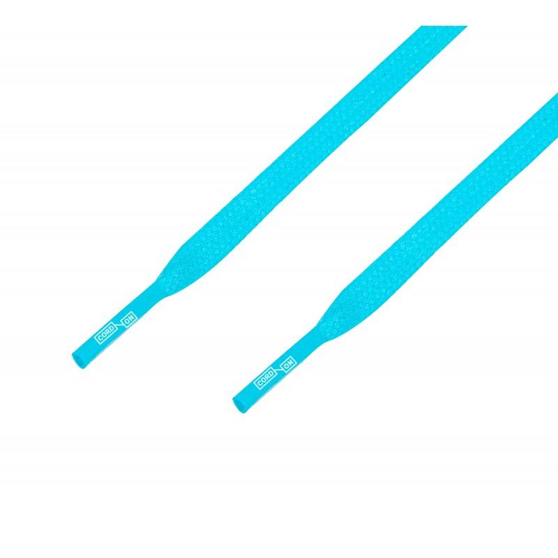 Cordón lustrado plano calzado azul Aguamar