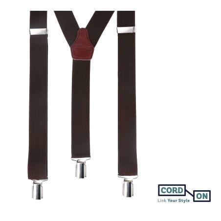 Tirantes elásticos marrón chocolate casablanca