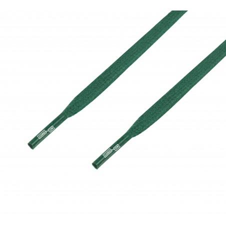 Cordón lustrado plano calzado verde Abeto