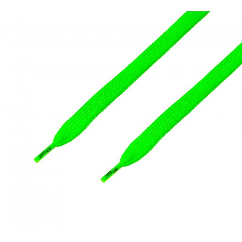 Cordón ancho plano Verde Flúor
