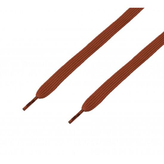 Cordón ancho plano marrón Tabaco