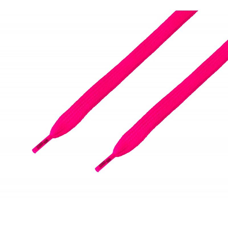 Cordón ancho plano rosa Fucsia Flúor
