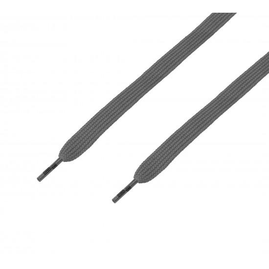 Cordón ancho plano gris Delfín