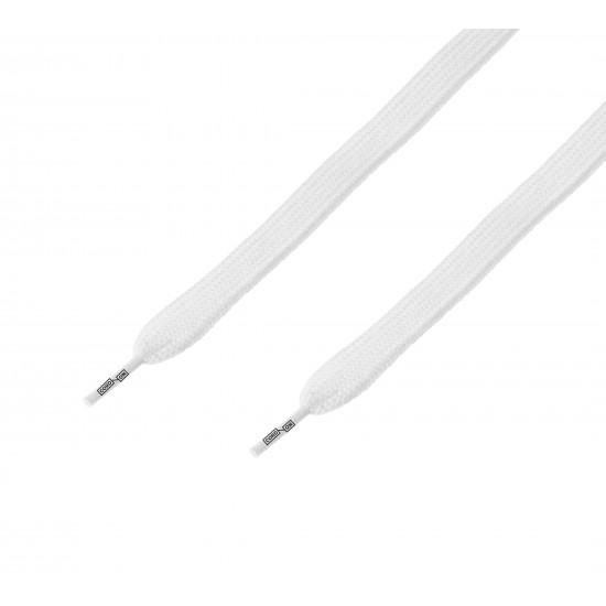 Cordón ancho plano Blanco