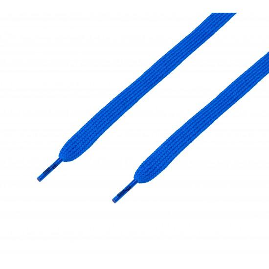 Cordón ancho plano Azul Eléctrico
