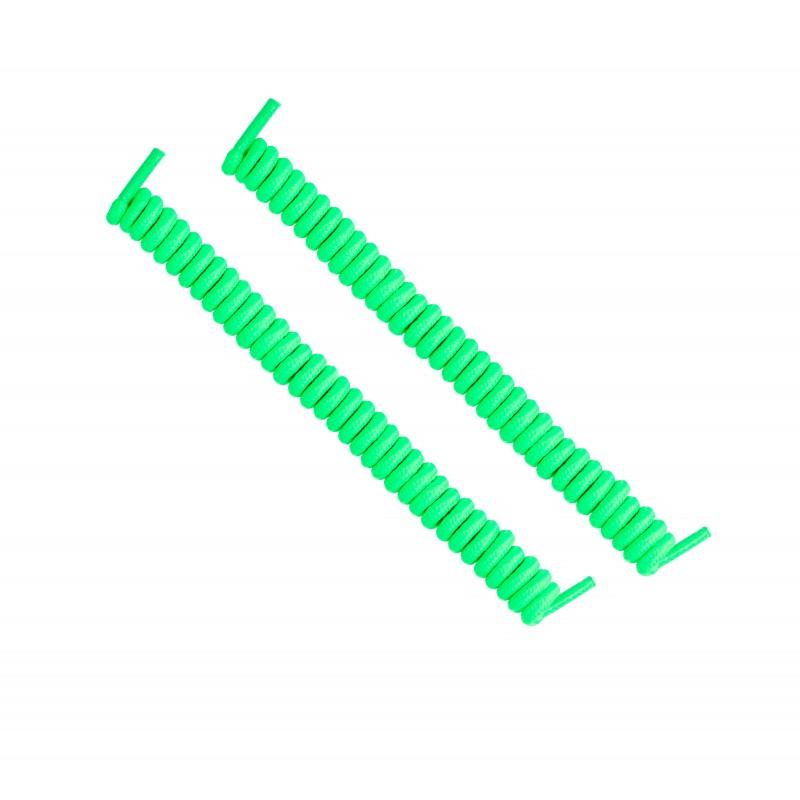 cordones elásticos calzado verde flúor liaflex