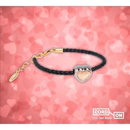 Set pulsera charm Swarovski dorado