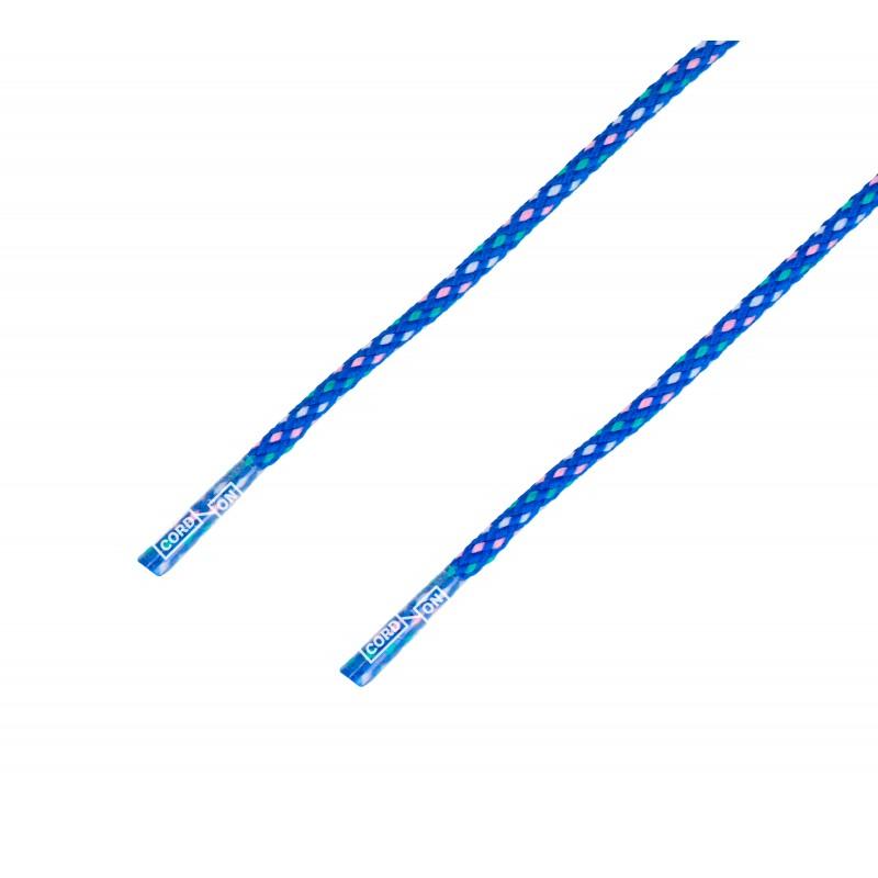 Cordón redondo cenefa azul blanco rosa maragda Rhomb