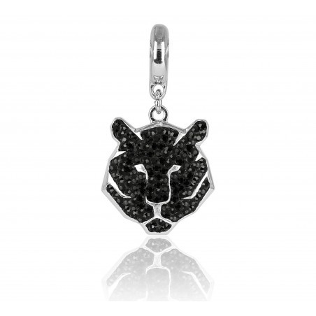 charm tigre swarovski negro