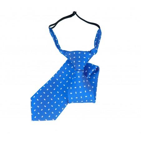 Corbata infantil azul royal blanco Tokyo