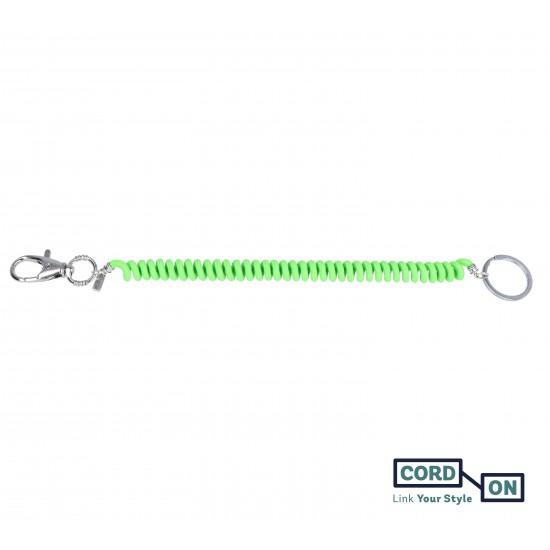 llavero extensible liaflex verde fluor