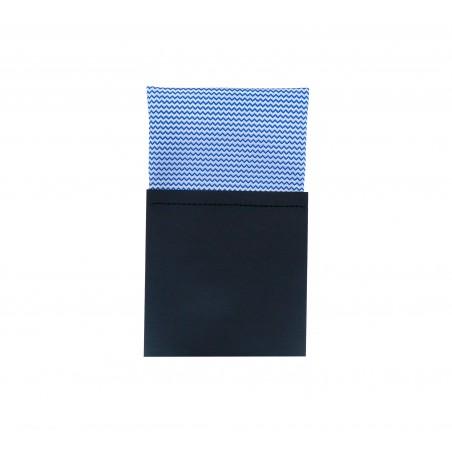 Pañuelo de bolsillo recto hombre azul blanco Oslo