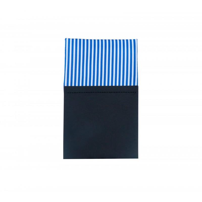Pañuelo de bolsillo recto hombre azul blanco Sydney