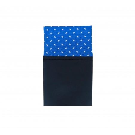 Pañuelo bolsillo recto azul blanco Tokyo