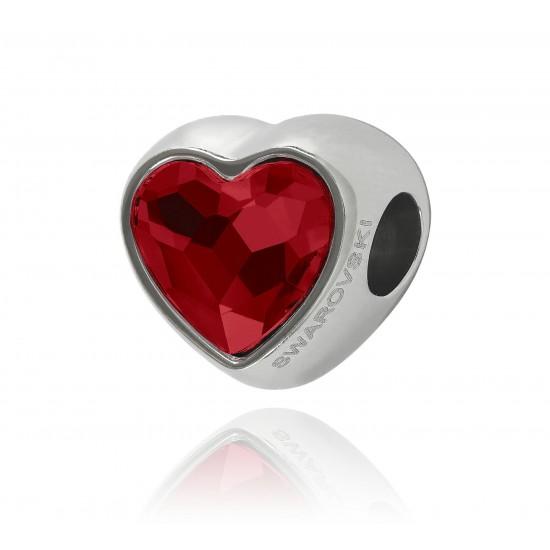 corazon cristal swarovsky rojo