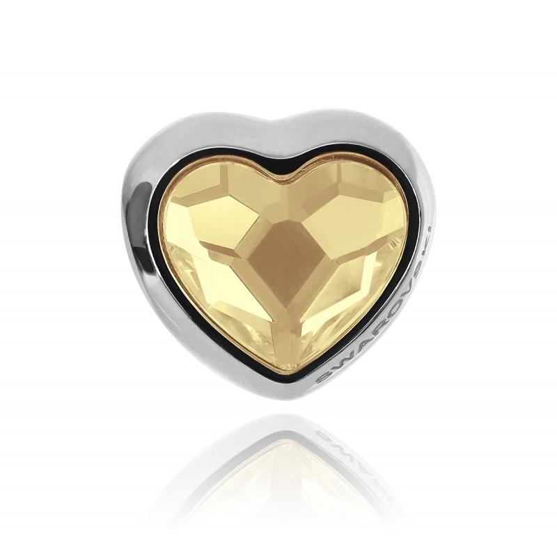 charm corazón dorado