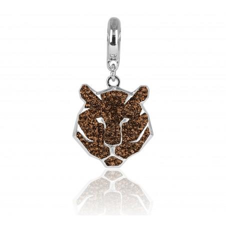 charm tigre swarovski topacio marrón