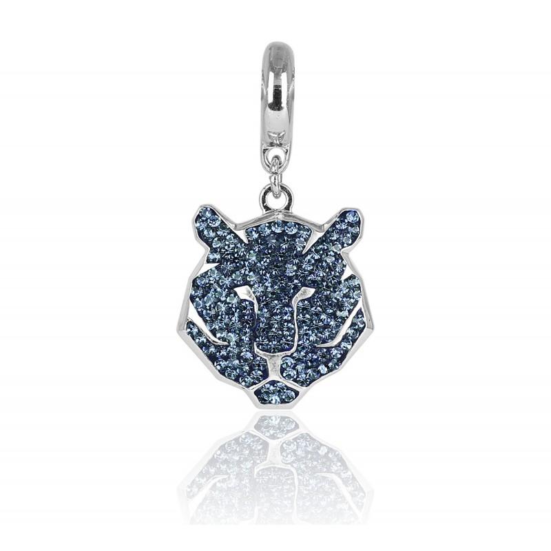 charm tigre swarovski azul denim