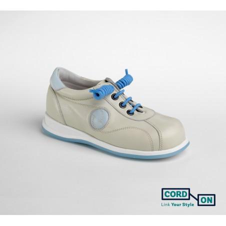 cordones elásticos calzado niño azul cielo