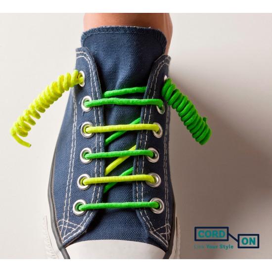 cordones elásticos calzado niño verde flúor