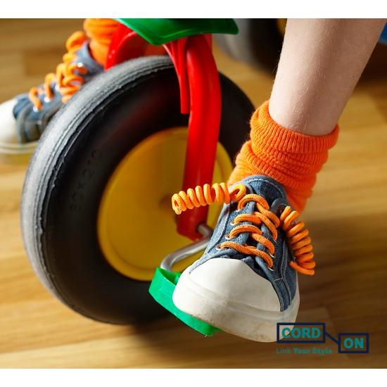 cordones elásticos calzado niño calabaza flúor