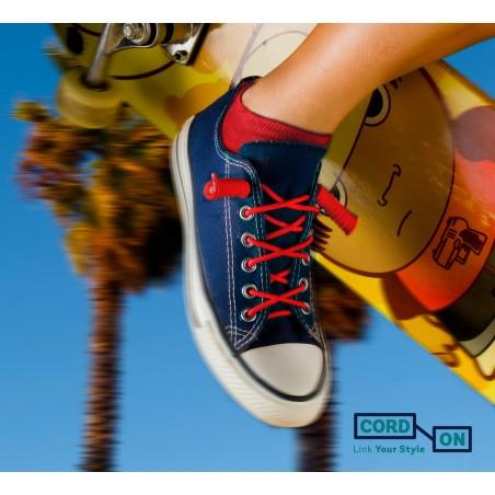 cordones elásticos calzado niño rojo