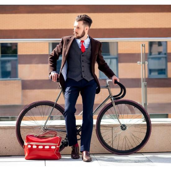 corbata hombre oxford rojo