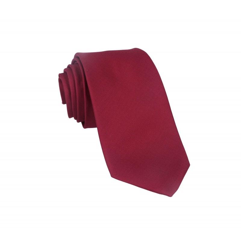 corbata oxford burdeos