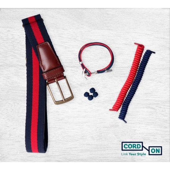 Salvaorejas elástico pulsera cinturón gemelos rojo azul marino Pack Gentleman Miami