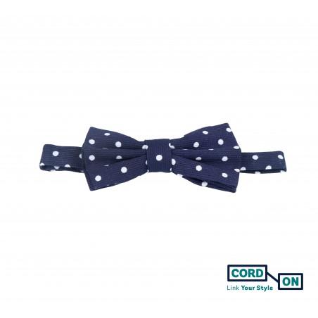 Pajarita infantil azul marino blanco topos Confetti