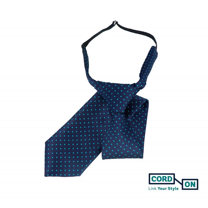 Corbata infantil azul marino turquesa Brooklyn