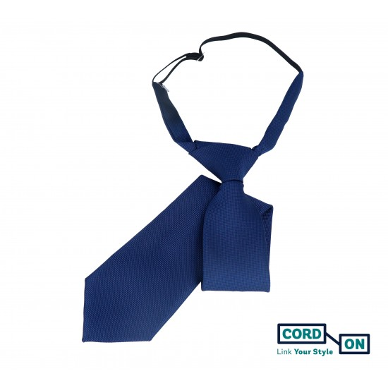 Corbata infantil azul marino Oxford