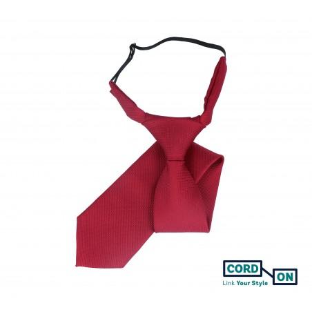 Corbata infantil rojo burdeos Oxford