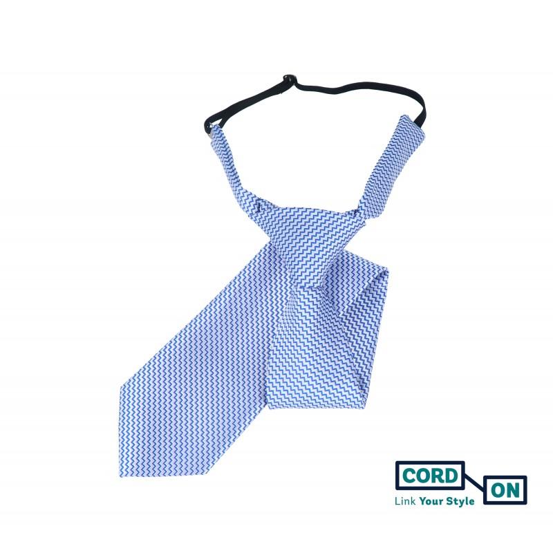 Corbata infantil azul royal blanco Oslo