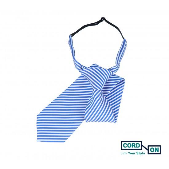 Corbata infantil azul royal blanco Sydney