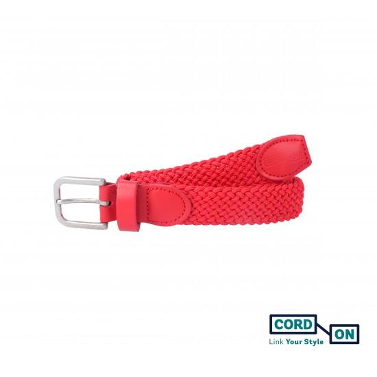 Cinturón infantil elástico trenzado rojo Sanremo