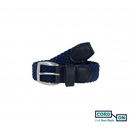 Cinturón infantil elástico trenzado azul marino Sanremo