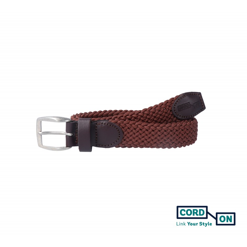 Cinturón infantil elástico trenzado marrón Sanremo