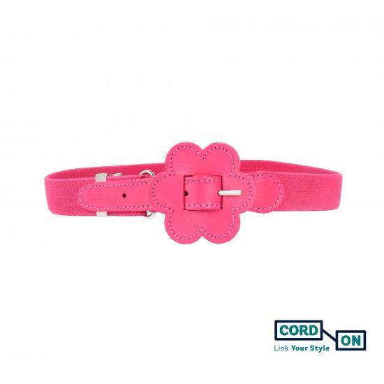 Cinturón elástico hebilla infantil rosa fucsia Daisy