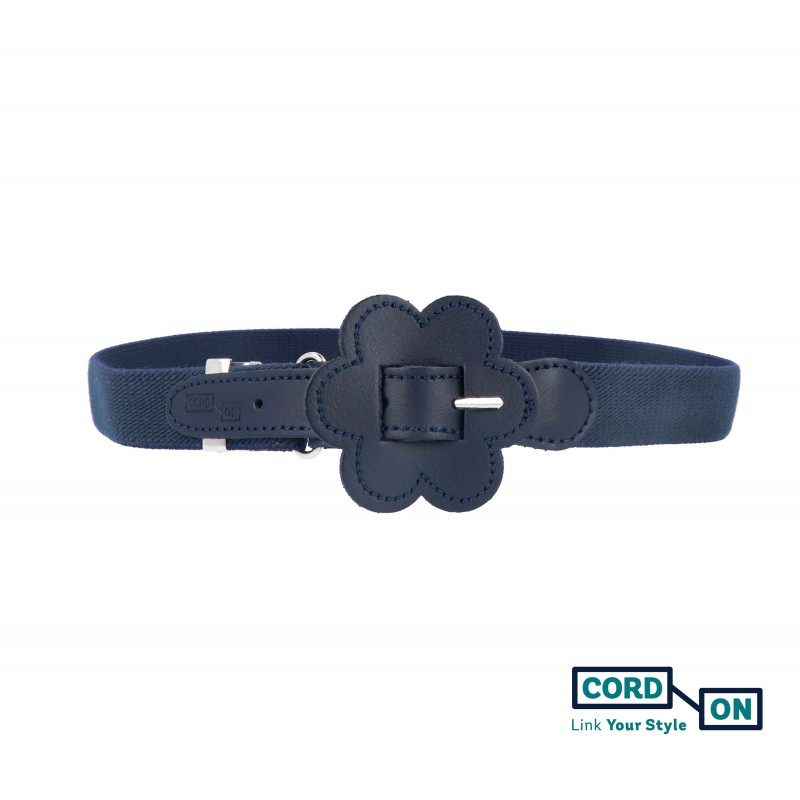 Cinturón elástico hebilla infantil azul marino Daisy