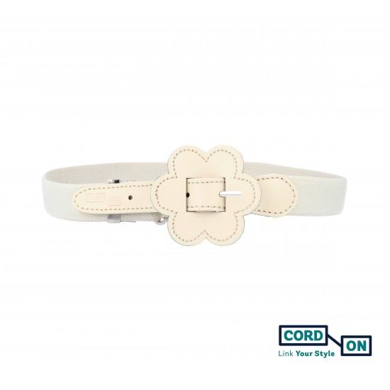 Cinturón elástico hebilla infantil crudo Daisy