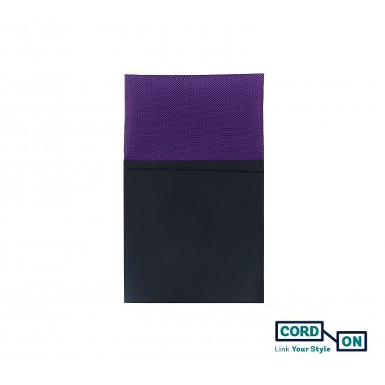 Pañuelo de bolsillo recto hombre lila violeta Oxford
