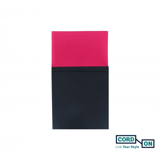 Pañuelo de bolsillo recto hombre rosa fucsia Oxford