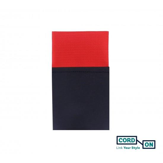Pañuelo de bolsillo recto hombre rojo Oxford