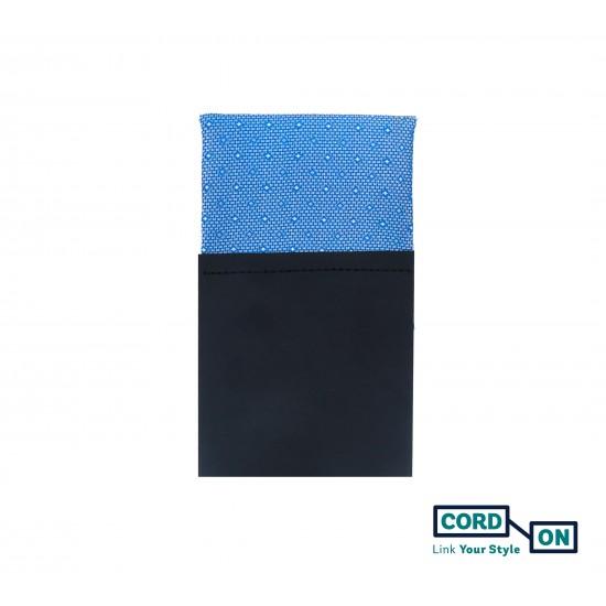 Pañuelo de bolsillo recto hombre azul celeste Cambridge