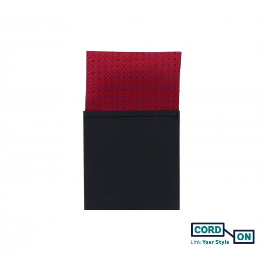 Pañuelo de bolsillo recto hombre rojo teja azul Brooklyn