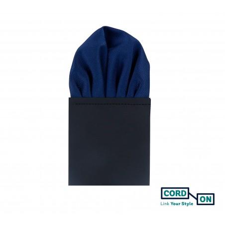 Pañuelo de bolsillo puff hombre azul marino Oxford
