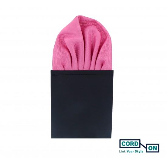 Pañuelo de bolsillo puff hombre rosa claro Oxford