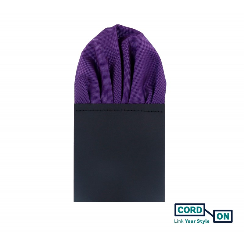Pañuelo de bolsillo puff hombre lila violeta Oxford