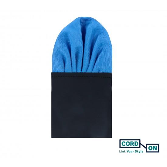 Pañuelo de bolsillo puff hombre azul celeste Oxford